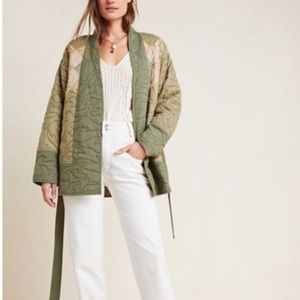 NWT Anthropologie Quilted Patchwork Belted…